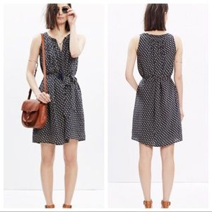 Madewell Silk Printed Dress with Pockets
